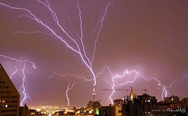 ایران درگیر باران، رعد و برق و باد شدید