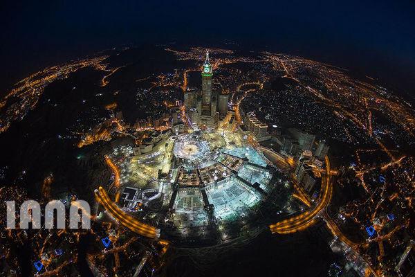 عکس هوایی از شهر مکه