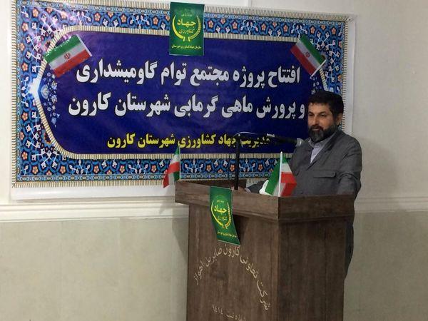 ایجاد اشتغال برای بیش از 50 خوزستانی با افتتاح پروژه دامداری ۵۰۰ راسی گاومیش شیری