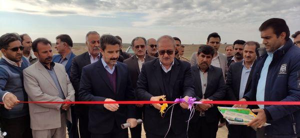 سیستم آبیاری تحت فشار پیوند بیستون قصرشیرین در استان کرمانشاه افتتاح شد
