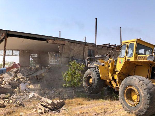 قلع و قمع ۳ مورد ساخت و ساز غیر مجاز در قزوین