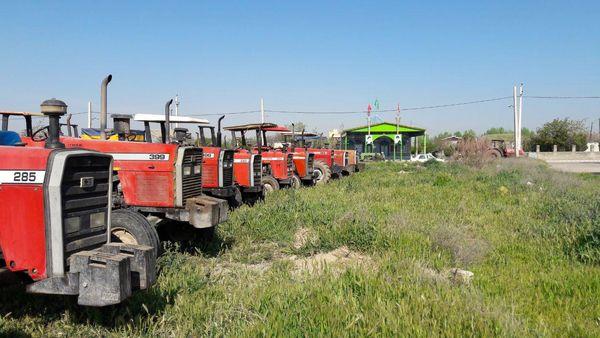 ماشین آلات کشاورزی دارای پلاک، سوخت دریافت می کنند