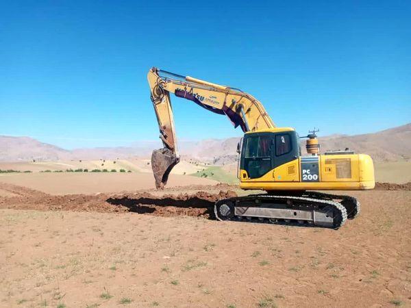 آغاز عملیات اجرایی شبکه آبیاری طرح عمومی روستای ده کهنه روگر