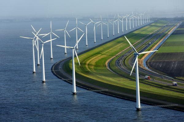 تولید برق با آسیاببادی در هلند