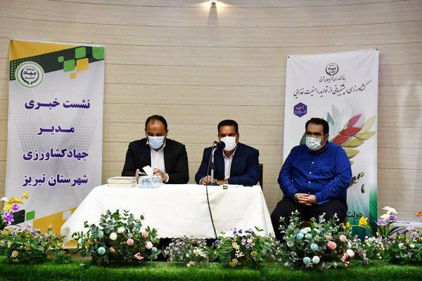 شهرستان تبریز از نظر تولید کلزا و سبزی و صیفی دارای رتبه نخست استانی است