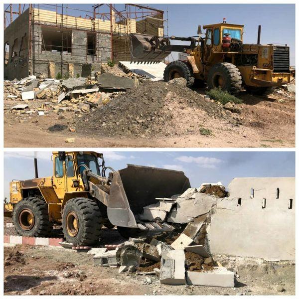 تخریب ۱۹ مورد ساخت و ساز غیر مجاز در قزوین