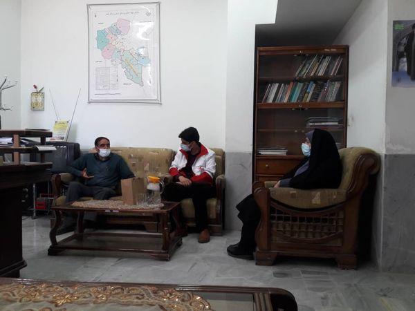 دیدار مسئول جمعیت هلال احمر شهرستان شهربابک با مدیر جهاد کشاورزی