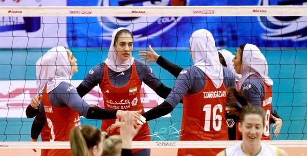 شکست بانوان والیبالیست ایران مقابل استرالیا