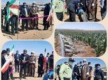 افتتاح طرح سیستم آبیاری کم فشار در سربیشه در دومین روز از هفته دولت