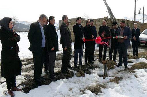 افتتاح سیستم کمفشار 9 هکتاری در شهرستان عجب شیر
