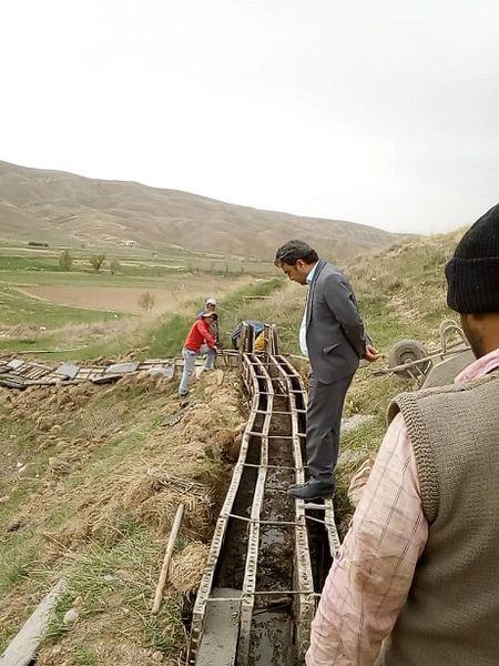 اجرای پوشش انهار در سطح 3کیلومتر از روستاهای فیروزکوه