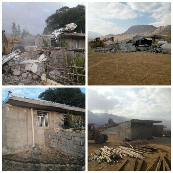 ۸ مورد ساخت و ساز غیرمجاز در کوهرنگ تخریب شد