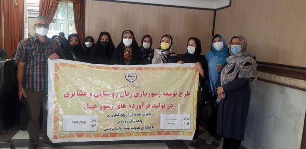 کارگاه آموزشی مدیریت زمستان گذرانی کلنیهای زنبور عسل ویژه زنان روستایی استان قزوین