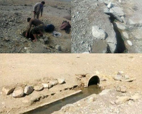 آغاز  عملیات لایروبی ومرمت قنات جلال آباد ارسنجان