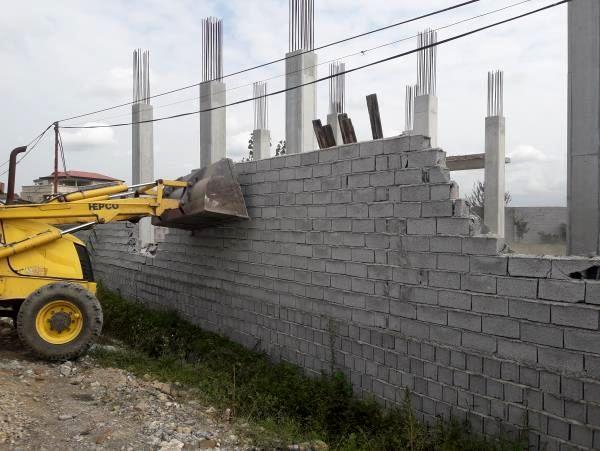 7 بنای غیرمجاز در جویبار قلع و قمع شد