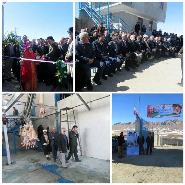 افتتاح کشتارگاه صنعتی دام در روستای بارده