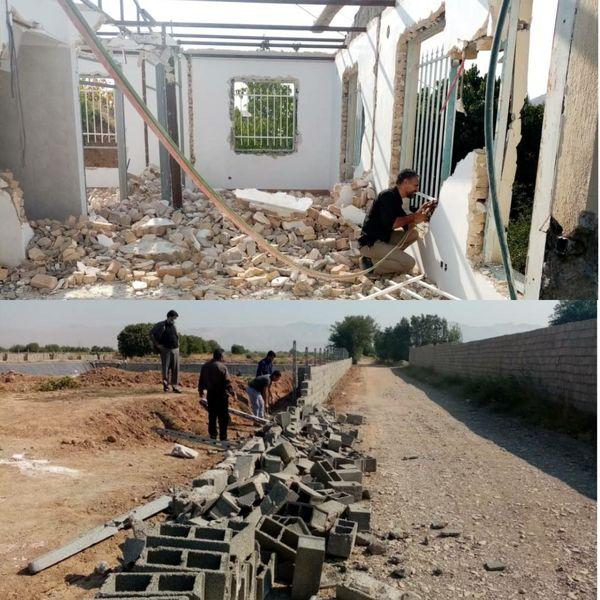 دو بنای غیر مجاز در اراضی کشاورزی شهرستان آبیک تخریب شد