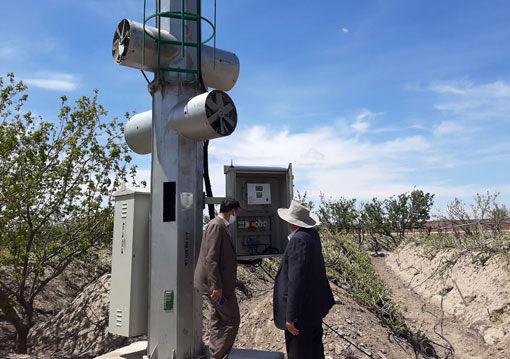 نصب و راه اندازی نخستین دستگاههای ضد سرما در شهرستان بناب
