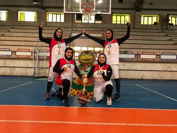قهرمانی تیم بسکتبال دختران «خاله قورباغه»