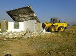 دو بنای غیرمجاز در اراضی کشاورزی شهرستان آبیک تخریب شد