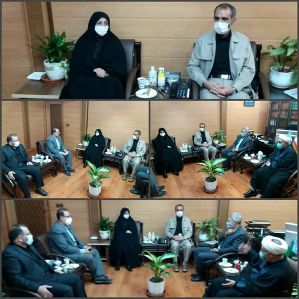 دیدار رییس سازمان جهاد کشاورزی با رییس کل دادگستری استان قزوین