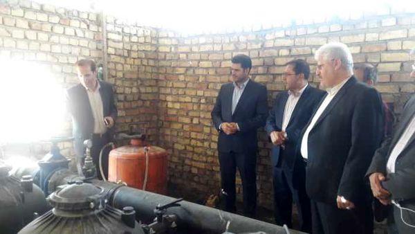 سیستم آبیاری تحت فشار ۱۲۰ هکتاری در شهرستان ری به بهره برداری رسید